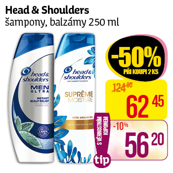 Head & Shoulders šampony, balzámy 250 ml