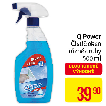 Q POWER čistič oken 500ml