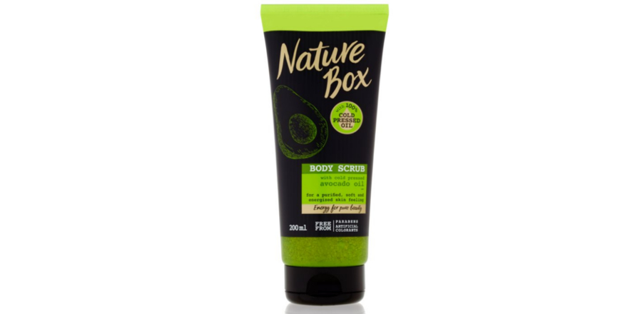 Tělový peeling Body Scrub Avocado Oil (Nature Box)
