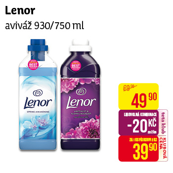 Lenor - Aviváž 930/750ml