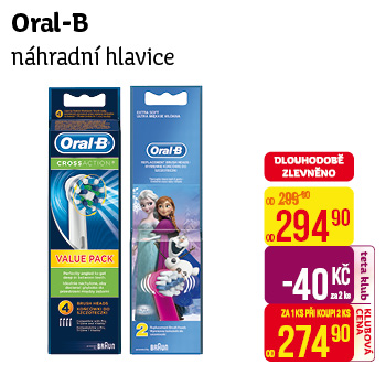 Oral-B náhr. hl. Cross Action (2ks/bli)