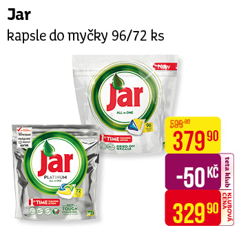 Jar kapsle XXL Yellow (96ks/sáč)