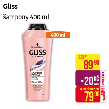 Gliss Kur - Šampony 400ml