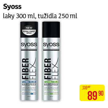 Syoss - laky (300 ml) a tužidla (250 ml)