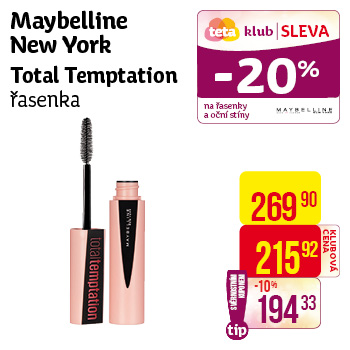 Maybelline New York - Total Temptation řasenka