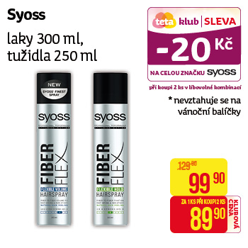 Syoss - Laky 300ml, tužidla 250ml